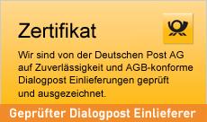 Problemloses einliefern Ihrer Dialogpost-Briefsendungen